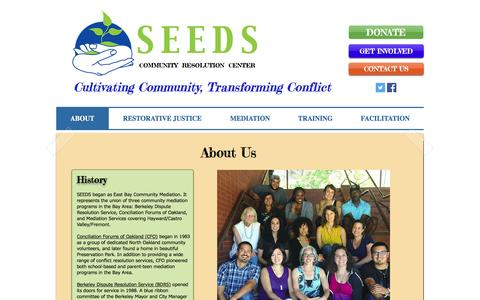 Screenshot of About Page seedscrc.org - About Us - captured Nov. 16, 2016