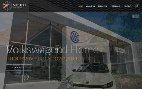 Screenshot of Home Page art-tec.com.au - Home - Art-tec - captured Feb. 6, 2016