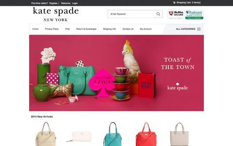 Screenshot of Home Page 2014katespadebags.com - Kate Spade New York Bag Online Store,We Can at any time Serve For You - 2014katespadebags.com - captured Jan. 26, 2015