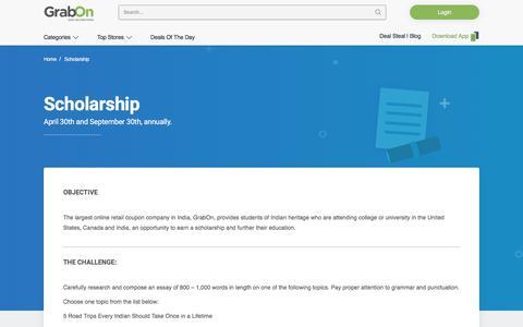 Scholarship - GrabOn
