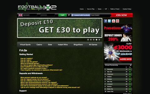 Screenshot of FAQ Page football1x2.com - Football 1x2 - captured Sept. 25, 2014
