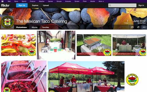 Screenshot of Flickr Page flickr.com - Flickr: The Mexican Taco Catering's Photostream - captured Oct. 26, 2014