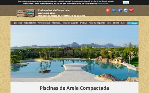 Screenshot of Home Page piscinasdeareia.com.br - Piscinas de areia - captured Sept. 19, 2015
