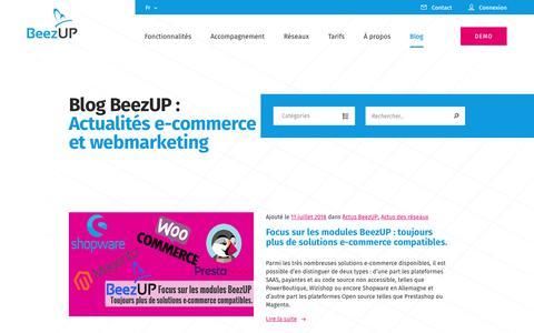Screenshot of Blog beezup.com - Blog BeezUP : Actualités e-commerce et webmarketing - captured Aug. 1, 2018