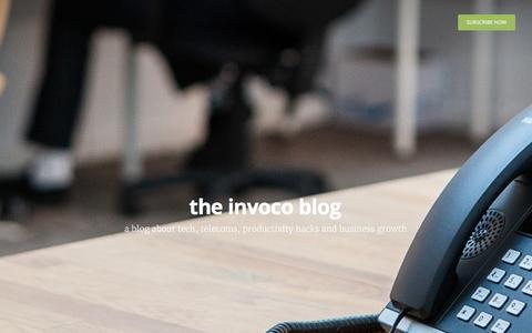 Screenshot of Blog invoco.net - the invoco blog - captured Nov. 26, 2016
