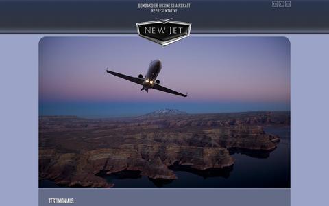 Screenshot of Testimonials Page newjet.com - New Jet31 - captured Oct. 9, 2014