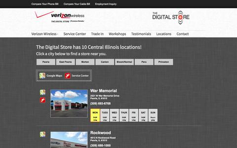 Screenshot of Locations Page thedigitalstores.com - Locations | The Digital Store | The Digital Stores - captured Oct. 6, 2014