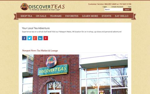 Screenshot of Locations Page discoverteas.com - Your Local Tea Adventure - captured June 4, 2017