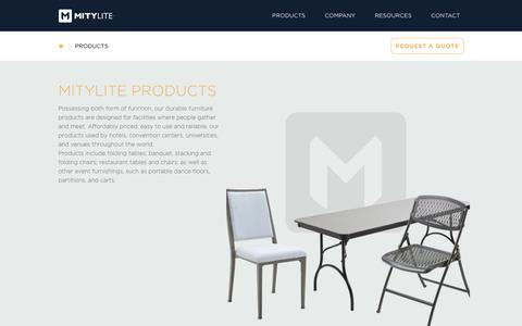 Screenshot of Products Page mitylite.com - Products Archive - MityLite - captured June 25, 2017