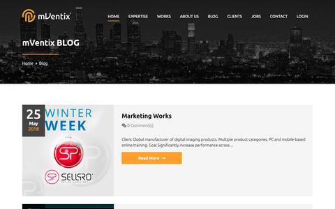 Screenshot of Blog mventix.com - Blog - captured Oct. 20, 2018