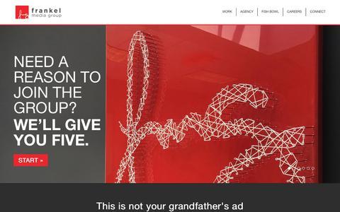 Screenshot of Jobs Page frankelmedia.com - Advertising Marketing & Digital Jobs In Gainesville Florida - captured Aug. 14, 2018