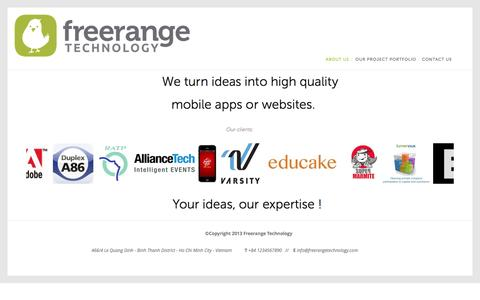 Screenshot of About Page freerangetechnology.com - About Us — Free Range Technology - captured Oct. 29, 2014