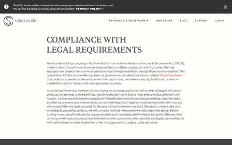 Legal Compliance | Silent Circle