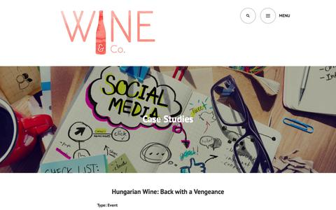 Screenshot of Case Studies Page wineandcollc.com - Case Studies | Wine & Co. - captured Feb. 14, 2016