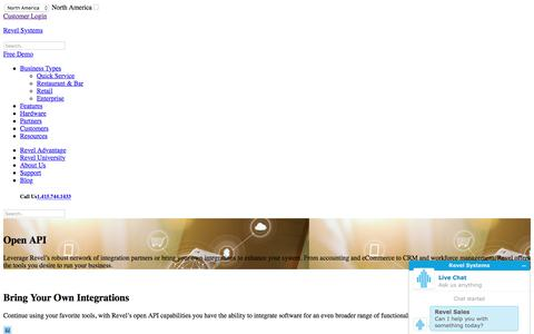 Open API   iPad POS Features   Revel iPad POS