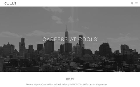 Screenshot of Jobs Page cools.com - Careers at COOLS - COOLS - captured Oct. 18, 2018