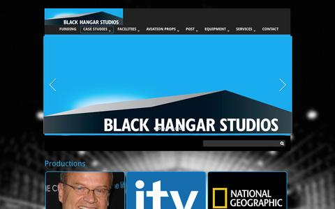 Screenshot of Case Studies Page blackhangarstudios.com - Productions | Stage|Production offices|Rentals - captured Oct. 29, 2014