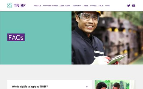 Screenshot of FAQ Page tnibf.org - FAQs - TNIBF - captured Oct. 23, 2017
