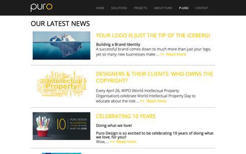 Screenshot of Blog purodesign.com.au - P-log   PURO DESIGN - captured Sept. 30, 2018