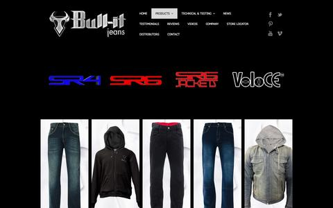 Screenshot of Products Page bull-it.com - Products   Bull-it Jeans - captured Jan. 29, 2016