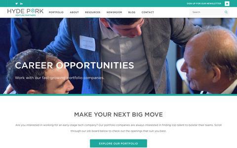 Screenshot of Jobs Page hydeparkvp.com - Hyde Park Venture Partners - captured Oct. 21, 2016