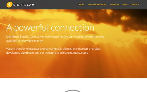 Screenshot of Home Page lightbeamelectric.com - LightBeam Electric Company - captured Jan. 29, 2016