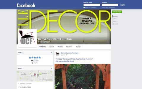 Screenshot of Facebook Page facebook.com - Denver Custom Furniture - Denver, CO - Home Decor | Facebook - captured Oct. 23, 2014
