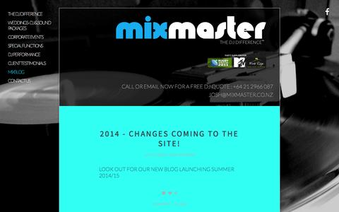 Screenshot of Press Page mixmaster.co.nz - Mixblog — MIXMASTER - captured Sept. 30, 2014