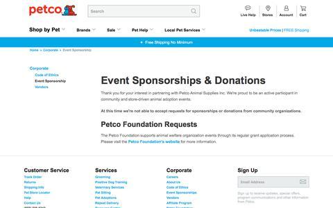 Event Sponsorship | Petco