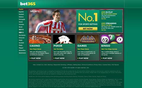 Screenshot of Login Page bet365.com - bet365 - Sports Betting, Premier League and Champions League Football Odds, plus ATP and WTA Tennis Prices, Casino, Poker, Games, Vegas, Bingo - captured Nov. 25, 2016