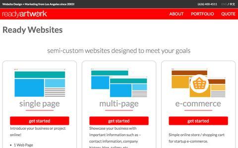 Screenshot of readyartwork.com - Ready Websites - Ready Artwork - captured Oct. 11, 2016
