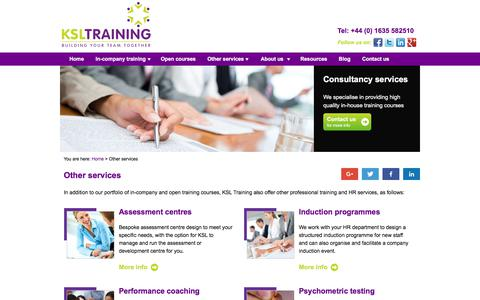 Screenshot of Services Page ksl-training.co.uk - Training Consultancy & HR Services | KSL Training - captured June 9, 2017