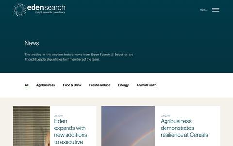 Screenshot of Press Page edensearch.co.uk - News Archives - Eden Search - captured Aug. 2, 2019