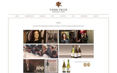 Screenshot of Press Page vassefelix.com.au - - NEWS - Vasse Felix - captured Oct. 7, 2014