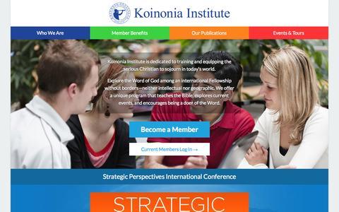 Screenshot of Login Page studycenter.com - Koinonia Institute - captured Oct. 6, 2014
