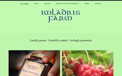 Screenshot of Home Page imladrisfarm.com - Imladris Farm - captured July 2, 2018