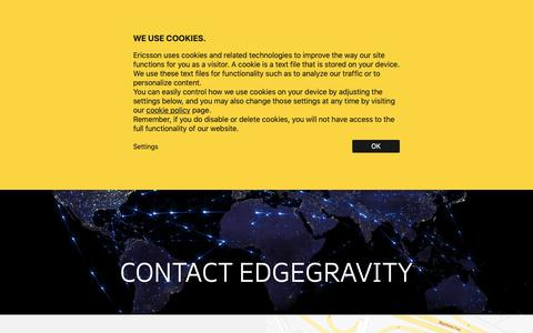 Screenshot of Contact Page ericsson.com - Unified Delivery Network (UDN) Contact - Edge Gravity by Ericsson - captured Dec. 6, 2018