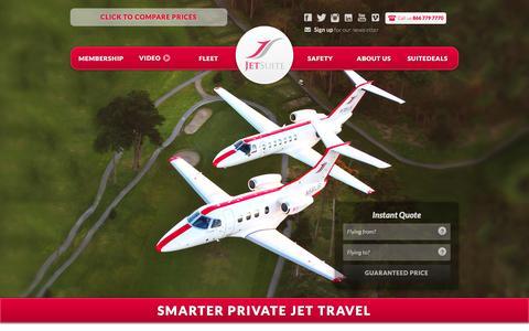 Screenshot of Home Page jetsuite.com - JetSuite | Private Jet Charter Flights Đ Private Jet Rental Service - captured Dec. 6, 2015