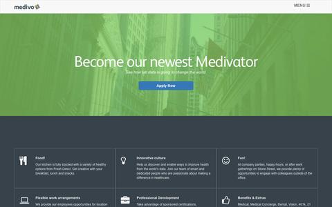 Screenshot of Jobs Page medivo.com - Careers | Medivo - captured Dec. 4, 2015