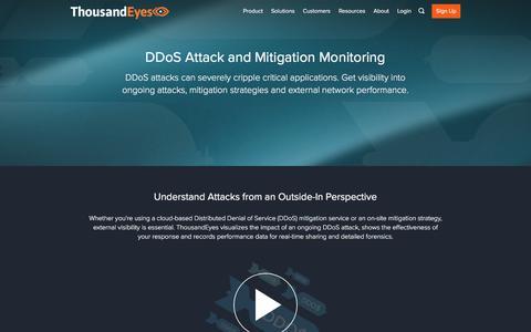 DDoS Attack and Mitigation Monitoring | ThousandEyes
