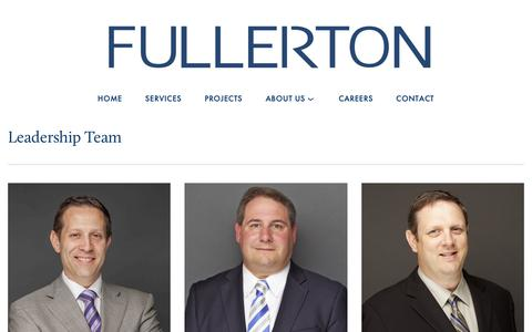 Screenshot of Team Page fullertonengineering.com - Leadership — Fullerton - captured Nov. 8, 2018