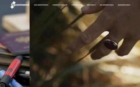 Screenshot of Home Page recommerce.com - Recommerce, european leader of refurbished smartphones - captured Nov. 29, 2016