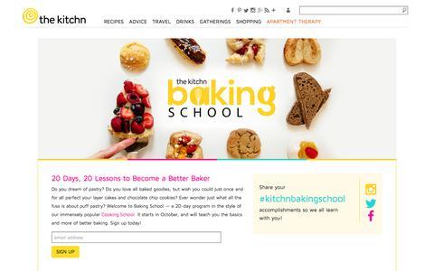 Screenshot of thekitchn.com - The Kitchn's Baking School | The Kitchn - captured March 20, 2016