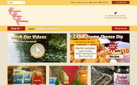 Screenshot of Products Page creativecajuncooking.com - Cajun Seasoning St. Amant | Cajun Seasoning LA | Cajun Recipes 70774 - Creative Cajun Cooking - captured Sept. 18, 2015