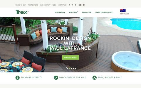 Screenshot of Contact Page trex.com - Composite Decking - Timber & Wood Alternative Decking | Trex - captured March 11, 2016