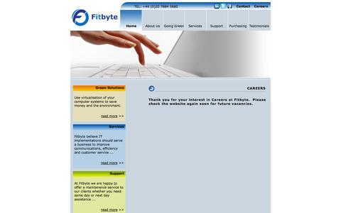 Screenshot of Jobs Page fitbyte.com - Fitbyte - Careers - captured Sept. 30, 2014