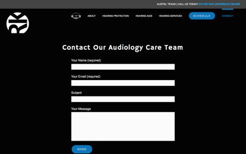 Screenshot of Contact Page rkaudiology.com - Audiologists in Austin | Hearing Loss | Hearing Aid Technology - captured Sept. 21, 2018