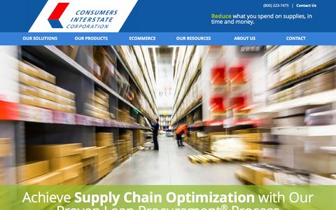 Reduce what you spend on supplies - Consumers Interstate Corporation