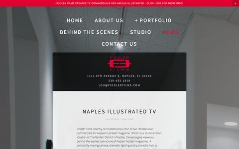 Screenshot of Press Page fiddlerfilms.com - News — Fiddler Films - Video Production and Photography - Naples, Florida - captured Sept. 30, 2014