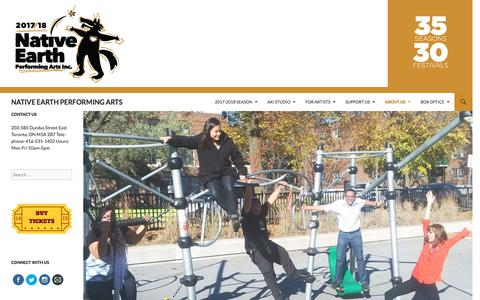 Screenshot of Jobs Page nativeearth.ca - Employment Opportunities   NATIVE EARTH PERFORMING ARTS - captured Oct. 19, 2017